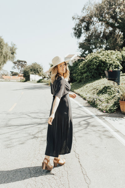 """Shay"" Maxi Dress, Black"
