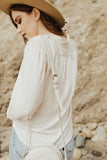 """Nora"" Blouse, Cream"