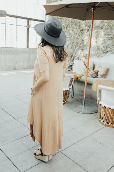 """Stella"" Half Sleeve Dress, Camel"