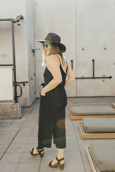 """Hamptons"" Jumpsuit, Black"