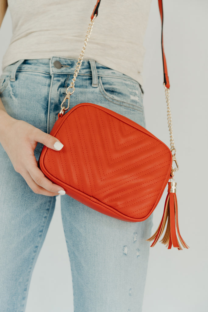 Bev Chain Purse, Red