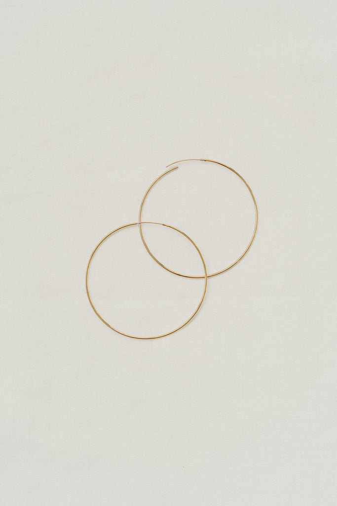 """Ari"" Hoop Earrings, Gold"