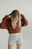 """Arizona"" Cropped Sweatshirt, Hazelnut"