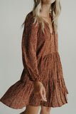Emily Tiered Dress, Rust