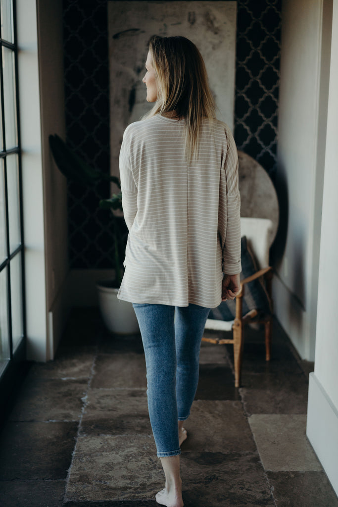 Evelyn Pullover Sweater, Cream and Ivory