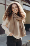 Easy Layer Scarf, Latte