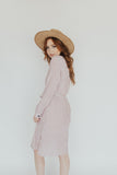 """Windsor"" Stripe Dress, Mauve"