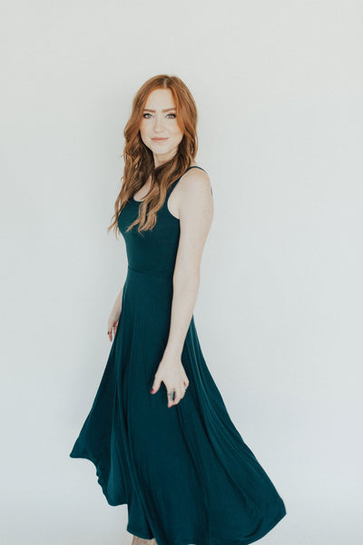 """Hepburn"" Dress, Teal"