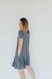 CJ's Favorite Swing Dress, Charcoal