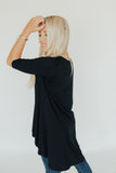 CJ's Favorite Half Sleeve Tunic, Black