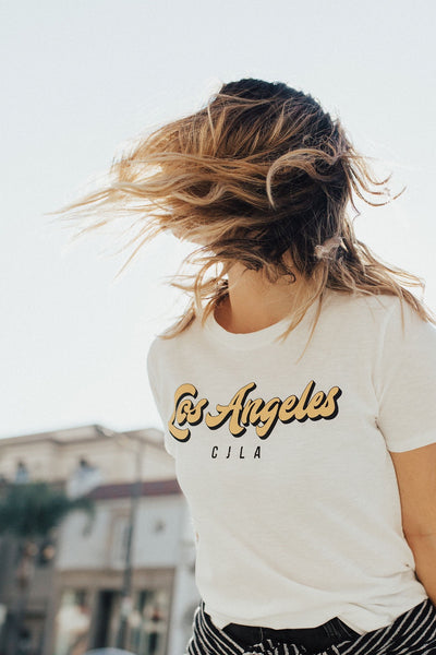 """Los Angeles"" Vintage Tee, White"