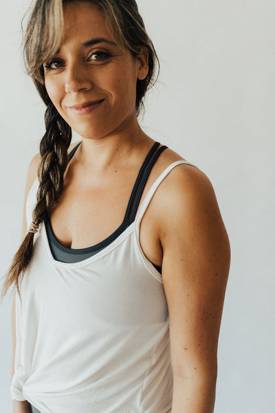 """Sierra"" Cross Back Sports Bra, Pine"