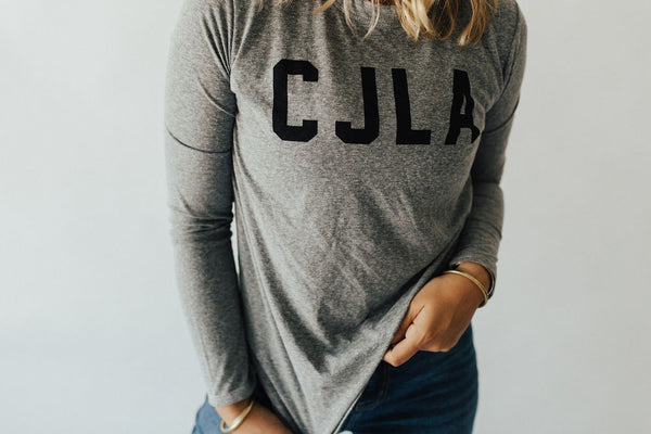 """CJLA"" Long Sleeve, Heather Grey"