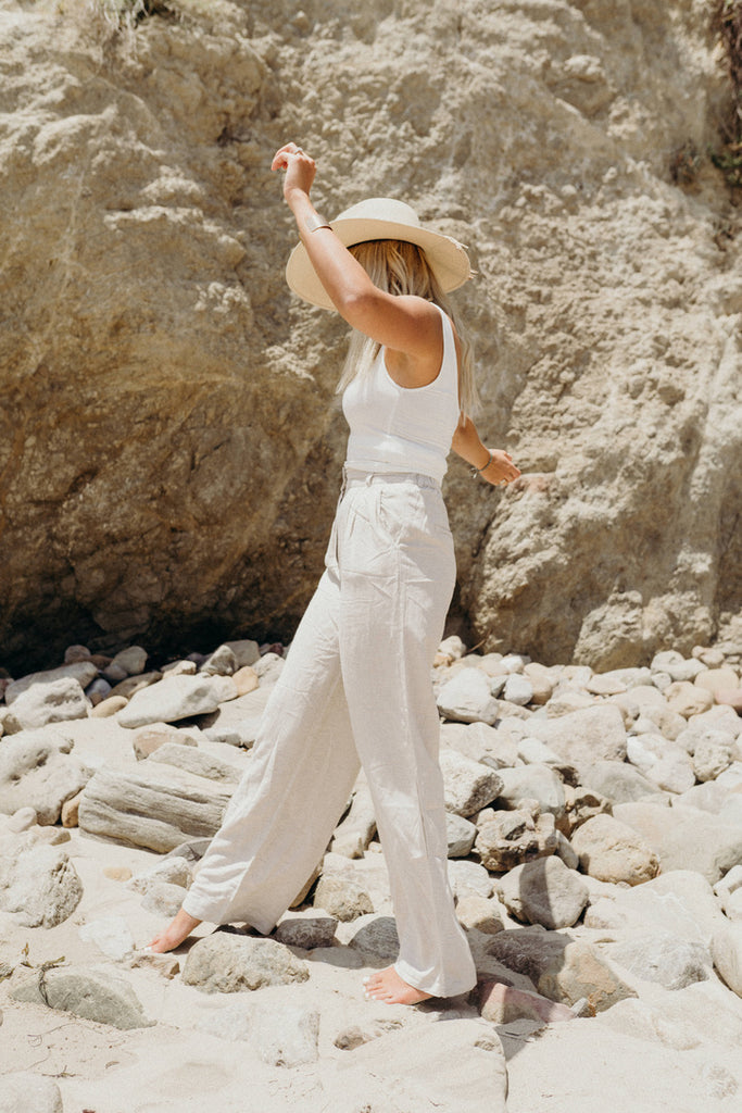 """Hamptons"" Linen Pants, Natural"