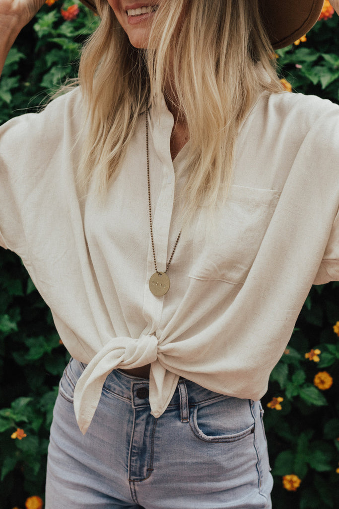 """Darcy"" Blouse, Natural"