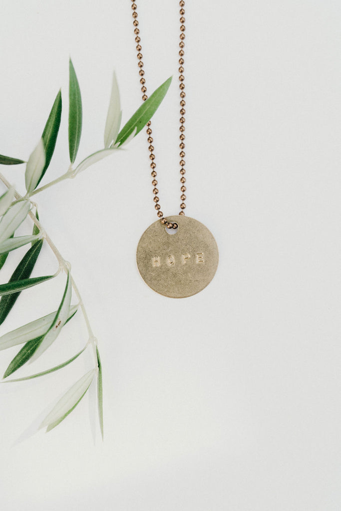 """Hope"" Pendant Necklace"
