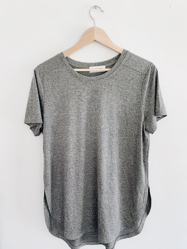 """Brooks"" Active Tee, Heather Grey"