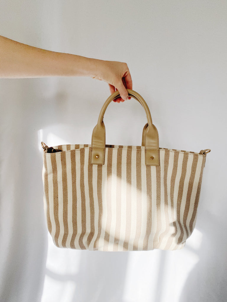 Laney Tote, Natural Stripe