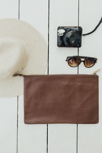 """Melbourne"" Clutch, Brown"