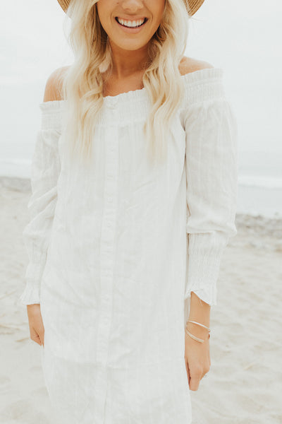 """Lila"" Tunic, Off White"