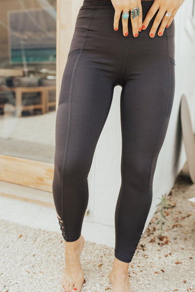 """Fremont"" Active Leggings, Charcoal"