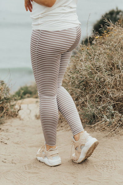 Melbourne Leggings, Ivory and Mauve