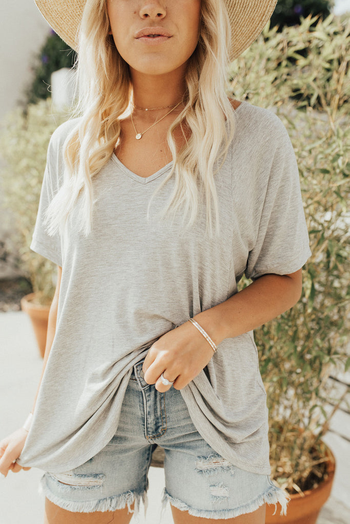 CJ's Favorite Boyfriend Tee, Heather Grey