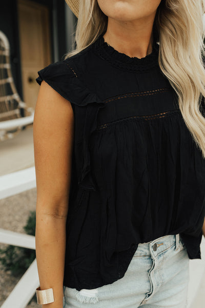 """Daniella"" Blouse, Black"