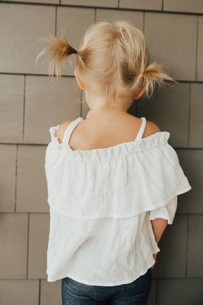 """Jane"" Off The Shoulder Blouse, White"