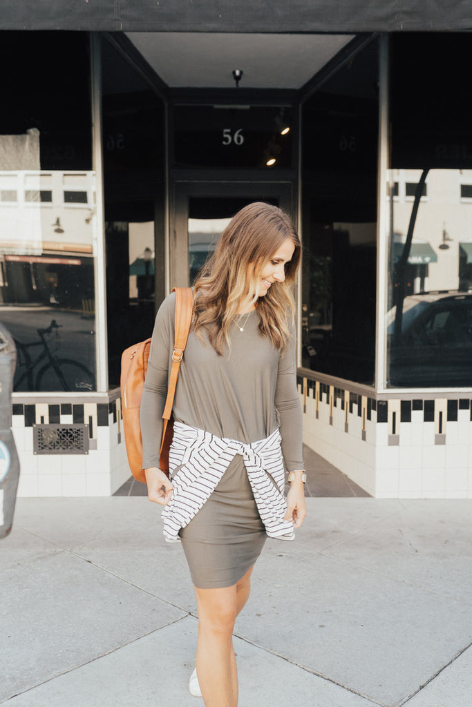 """The Everyday Dress"" Light Olive"