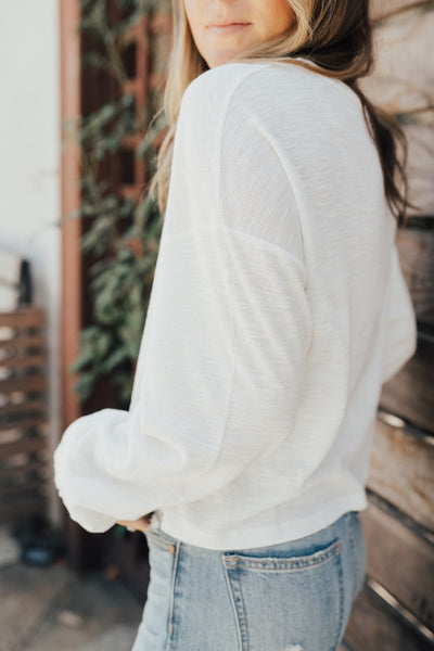 """Kayce"" Ribbed Long Sleeve Top"