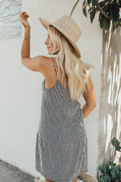 """Sloan"" Sundress, Black and Natural"