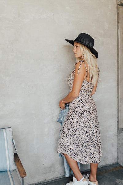 """Tinsley"" Midi Dress, Leopard Print"