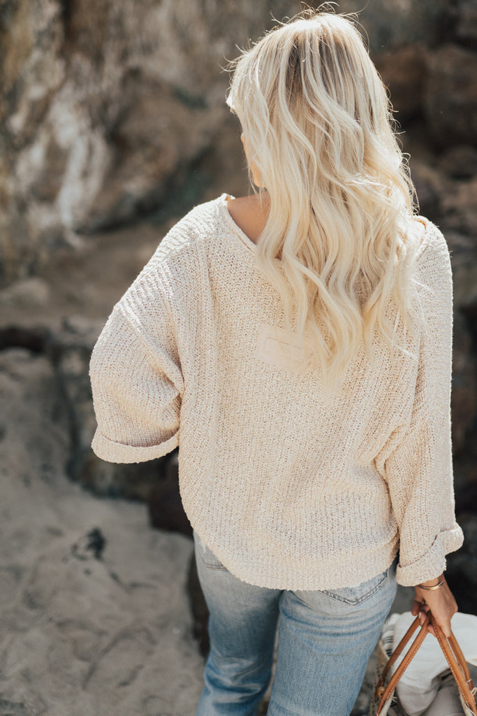 """Kasen"" Oversized Crop Sweater"