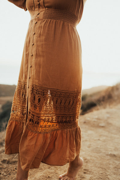 """Indy"" Boho Mid Length Dress"