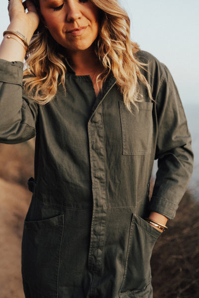 """Shiloh"" Jumpsuit, Army Green"