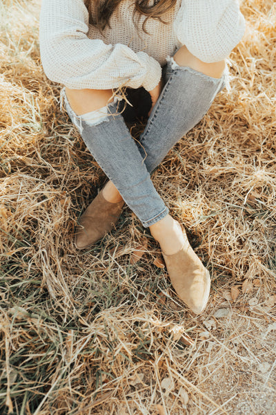 """Cammy"" Suede Mule, Fawn"
