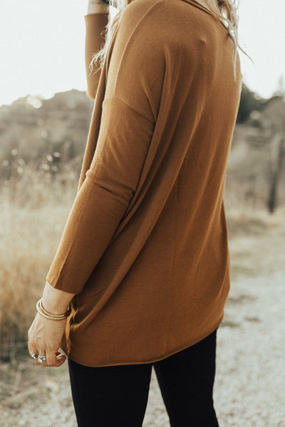 """Sterling"" Pullover Sweater, Rust"