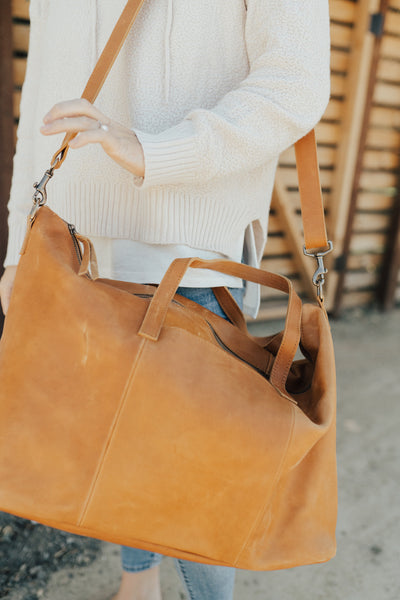 """Alem"" Leather Weekender Bag"