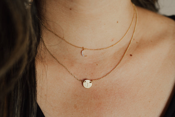 """Moon"" Dainty Necklace"