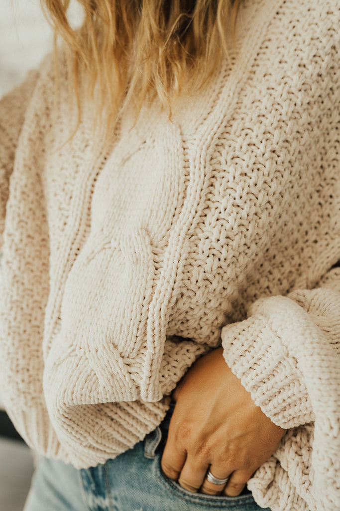 """Ember"" Knit Pullover Sweater"