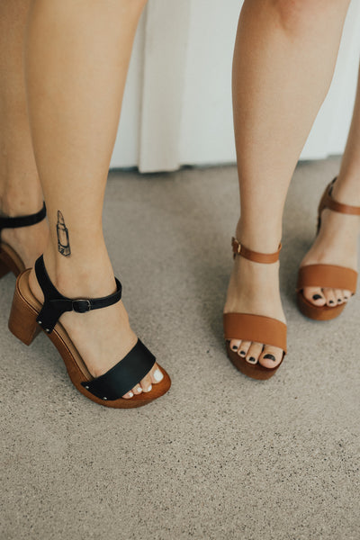 """Tara"" Ankle-Strap Clogs"