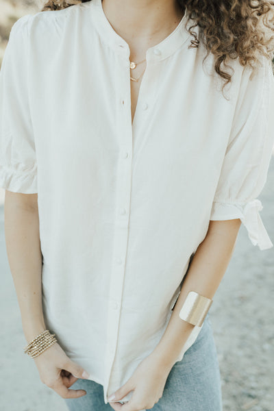 """Elle"" Button Down Blouse"