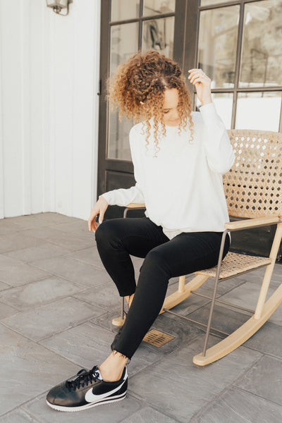 """Monica"" Cashmere Turtleneck Sweater, Ivory"