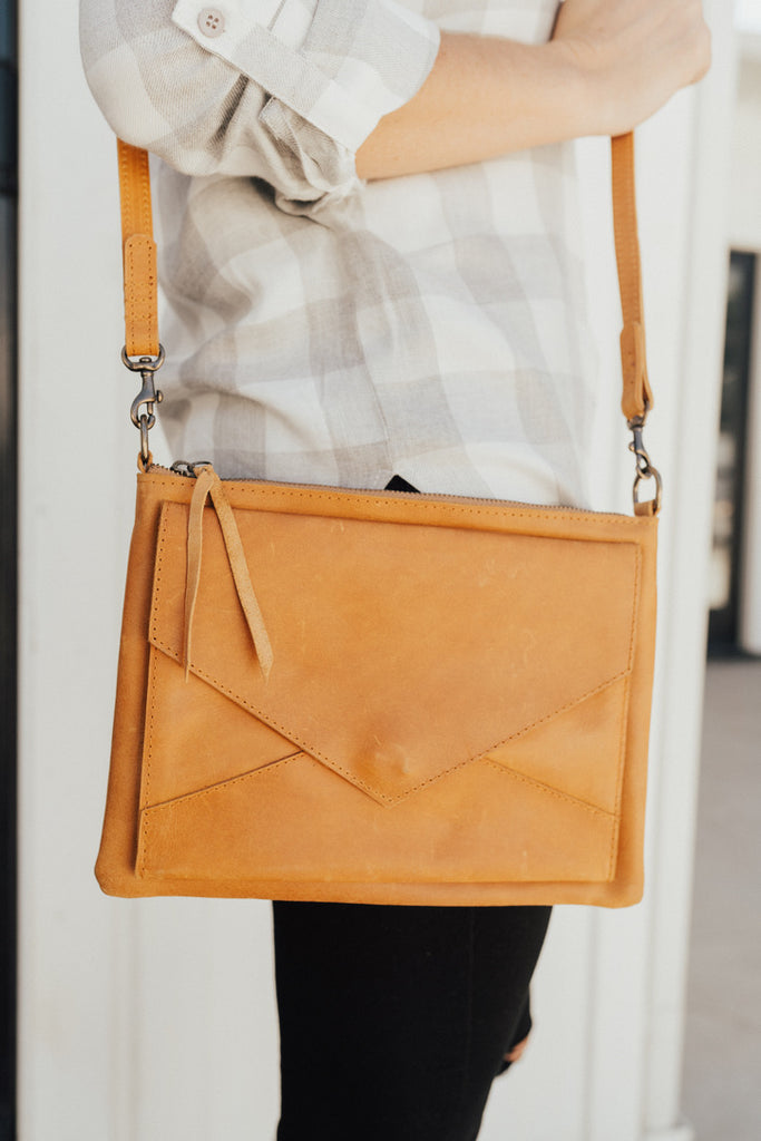 """Solome"" Leather Crossbody Purse"