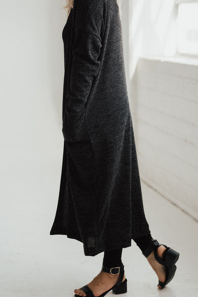 """Edith"" Textured Knit Duster"