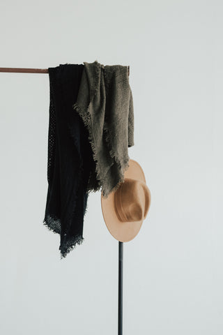 """Francesca"" Scarf, Black"
