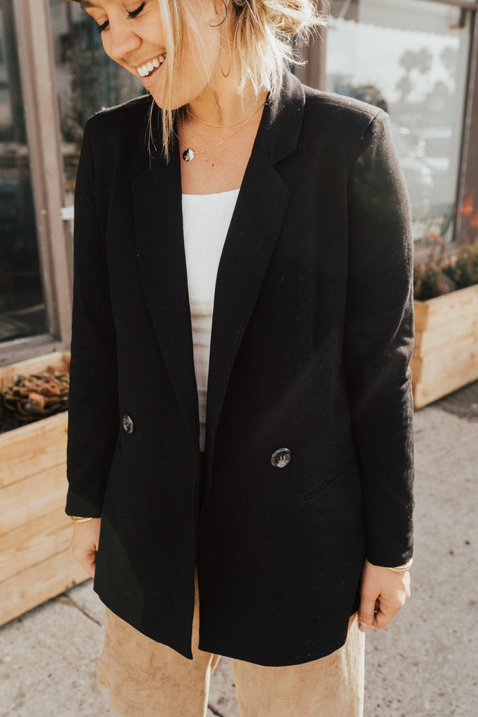 """Elyse"" Fitted Blazer, Black"