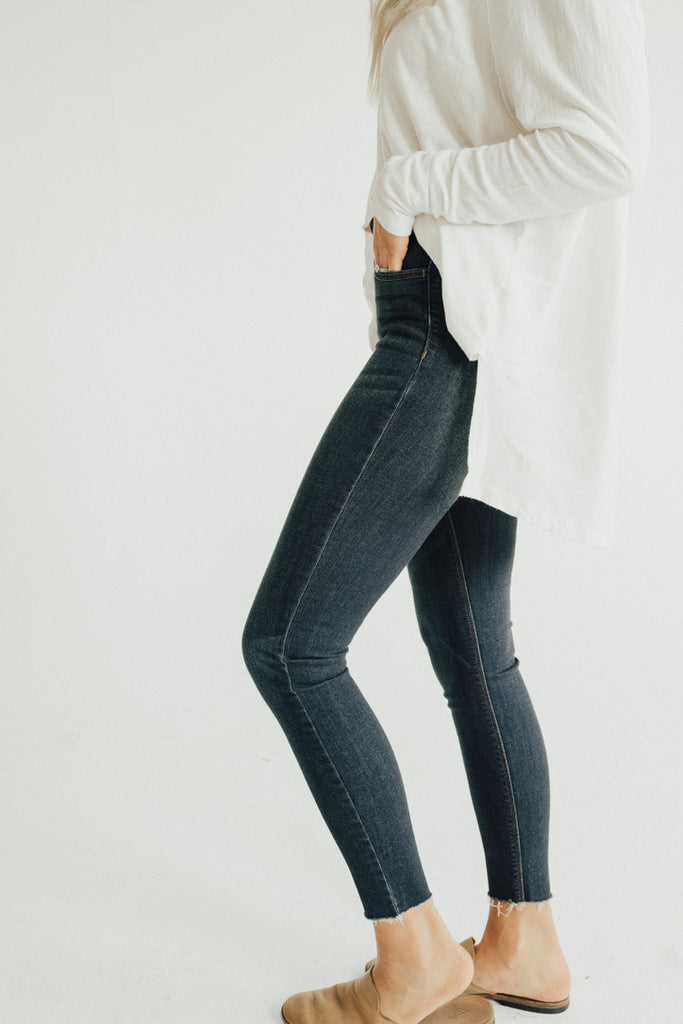 """Hudson"" High Rise Jeans, Dark Wash"
