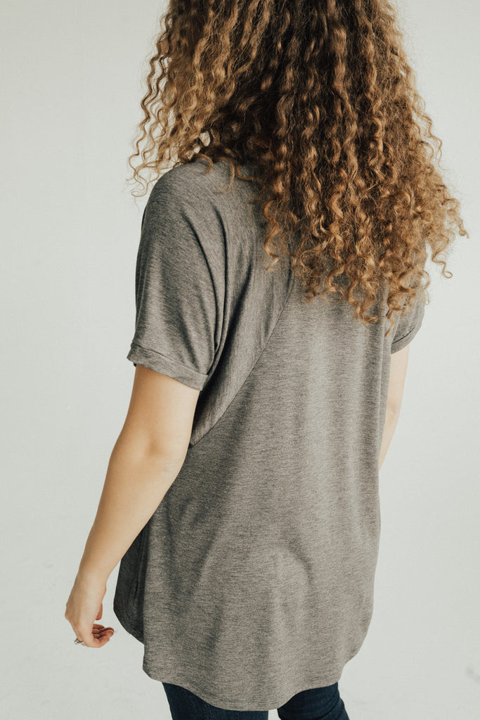 CJ's Favorite Boyfriend Tee, Charcoal Grey